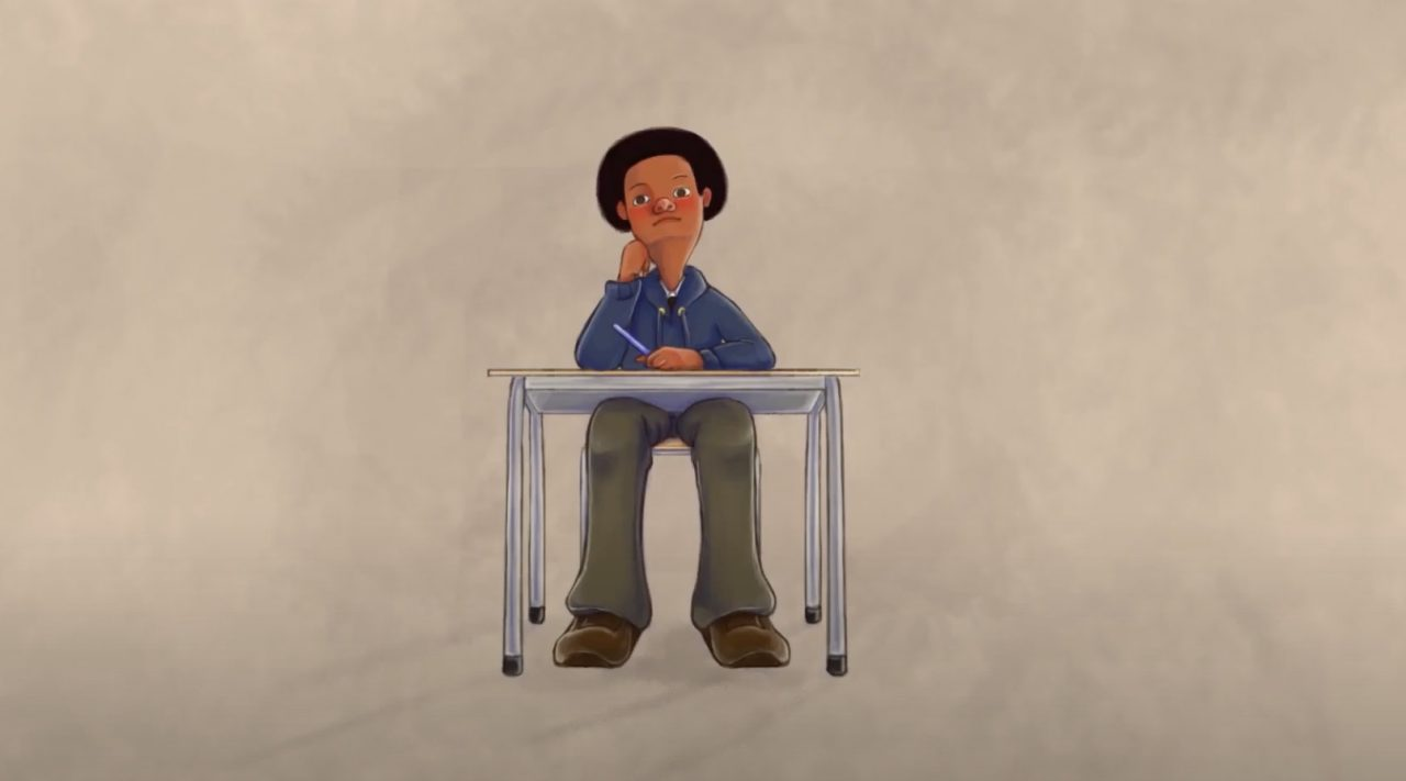 screen shot from animated film