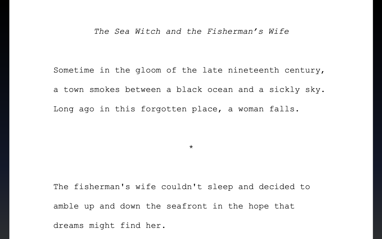 Page of Sea Witch and the Fisherman's Wife