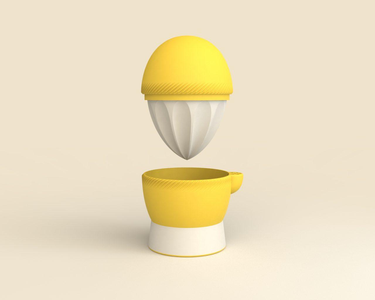 Rendered image of Lemi the Lemon Squeezer.